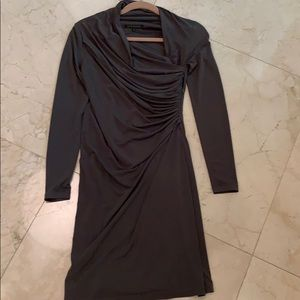 Gorgeous David Meister olive green fitted dress
